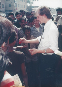 Me doing magic tricks in India at age 22