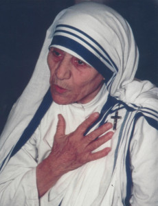 I took this photo of Mother Teresa in 1980 in Calcutta.